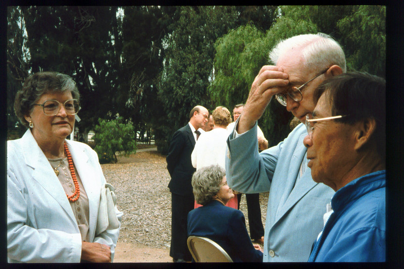 Memorial and tree-dedication honoring late museum benefactor Earl Hill (Thelma Sullivan), 8/8/1992. acc2005.001.1660