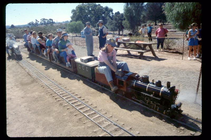 Depot Day steam-train rides, 10/1990. acc2005.001.1394