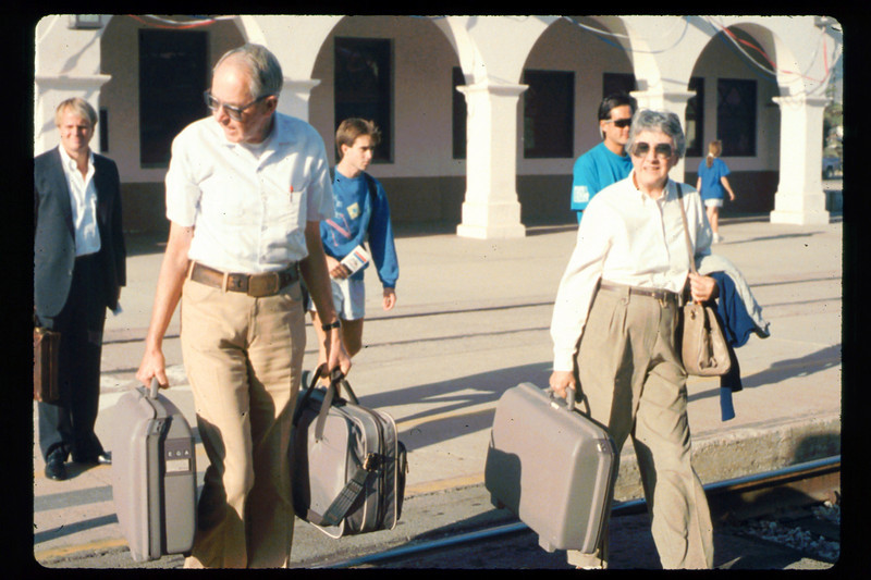 Gene and Alma Allen on a personal trip via Amtrak to Washington, D.C., 10/1990. acc2005.001.1441