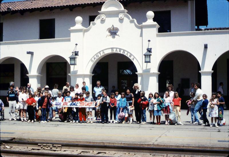 La Patera Elementary School rail trip to San Luis Obispo, 4/23/1987. acc2005.001.0781