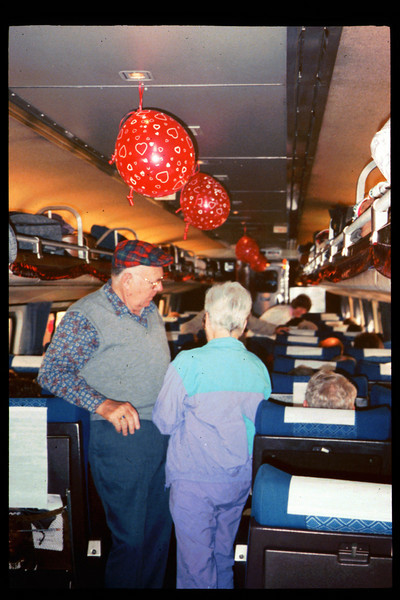 """Valentine's-themed """"Sweetheart Special"""" trip to San Diego was held Feb. 13-14, 1993. acc2005.001.1699"""