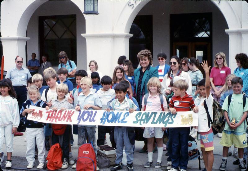 San Luis Obispo school rail trip, 5/3/1989. acc2005.001.1130