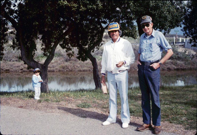 Al jaramillo and Gene Allen at Asphalt Regatta spring fundraiser, 3/14/1987. acc2005.001.0719