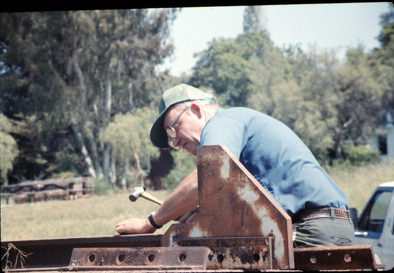 Track extension construction crew -- Ralph Moore, 4/18/1987. acc2005.001.0768