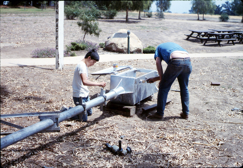 Eagle Scout project - wig-wag signal installation, Spring 1989. acc2005.001.1122