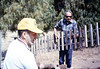 Gene Boswell and Gene Allen help with the miniature-railroad track construction, 6/1987 edit acc2005.001.0811
