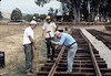 Standard-gauge track laying, 1985. acc2005.001.0537