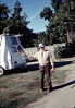 Moving Day, 11/18/1981. Steve Sullivan displays items he found under depot building.. acc2005.001.0090
