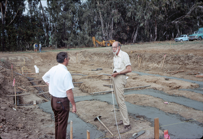 Londi Ciabattoni and Ray Baird at new site, 11/12/1981. acc2005.001.0043