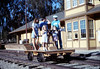 Handcar rides at museum begin, 11/1989. acc2005.001.1227