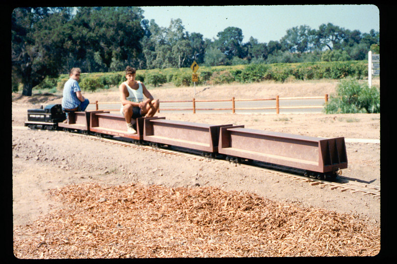 Diesel locomotive #1316 (Mike Williams and Steve Kramer), 1990. acc2005.001.1432