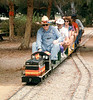 """El Tren De La Fiesta"" event (Engineer Jack Cogan) was held Aug. 7, 1993. acc2005.001.1836 Jack Cogan"