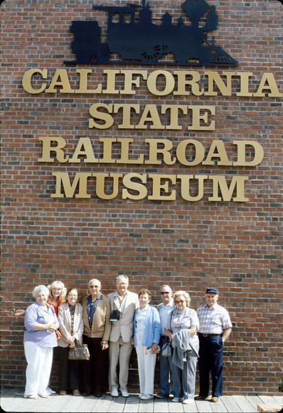 Sacramento museum rail trip group, 5/8/1986. acc2005.001.0590