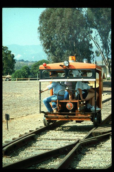 The 10th Annual Depot Day event (Bob Mahan speeder rides) was held on Sunday, Oct. 10, 1992. acc2005.001.1687