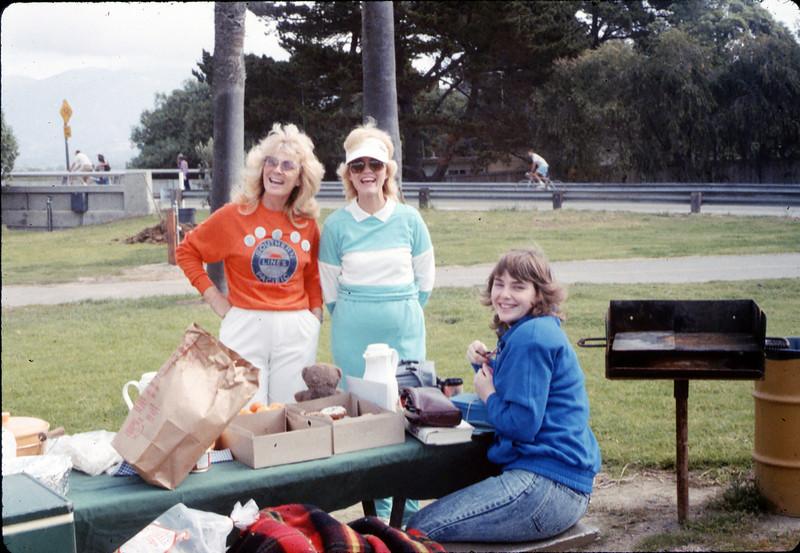 Phyllis Olsen, Christine Negus, and Kari (Olsen) Adams at Asphalt Regatta spring fundraiser, 3/14/1987. acc2005.001.0725