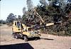 County of Santa Barbara Flood Control crane will move rock for Native Sons plaque, 9/1983.