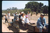 Wedding party rides the miniature train during Steaming Summer, 1991. acc2005.001.1481