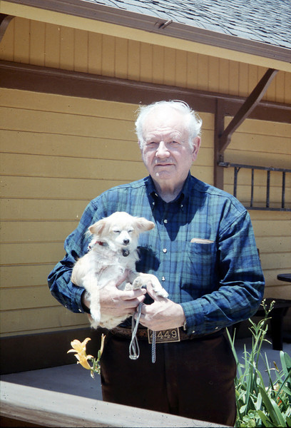 Agent Bob McNeel and his dog, Cyndee (not sure of spelling), 1994. acc2005.001.1939