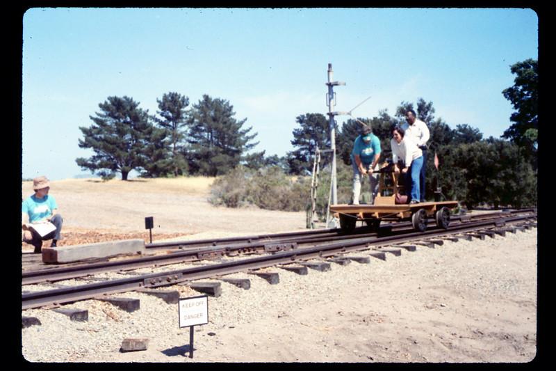 Handcar rides, 6/1990. acc2005.001.1364