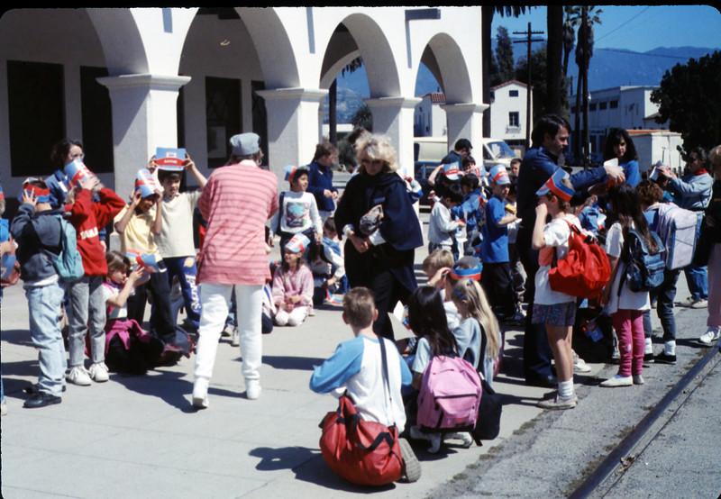 Hollister Elementary School 3rd Grade trip to San Luis Obispo, 3/14/1990. acc2005.001.1281