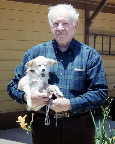 Agent Bob McNeel and his dog, Cyndee (not sure of spelling), 1994. acc2005.001.1939 Robert McNeel