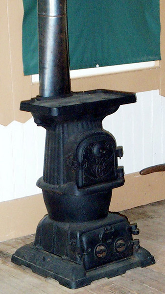 Caboose stove in Waiting Room