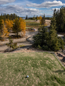 The par-3 11th hole at Yellowknife Golf Club