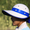 Caddie 'helmets'.  What are they afraid of?........This one looks likes she's in pain.