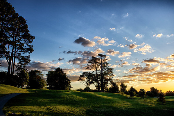 The 18th tee at Remuera golf course, Auckland