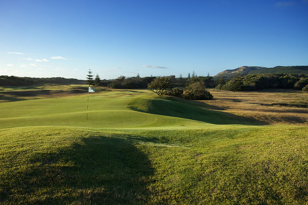 13th green at Muriwai, late afternoon