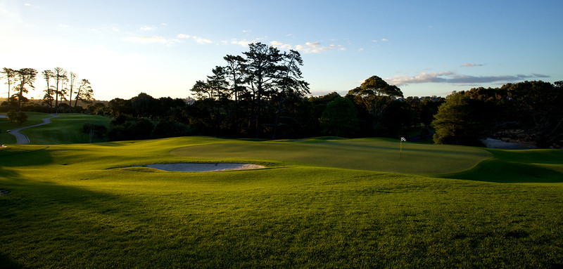 Sunset on the signature 17th, Remuera