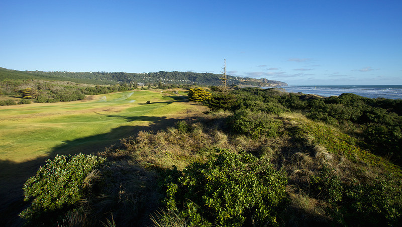 Looking back up the 14th at Muriwai