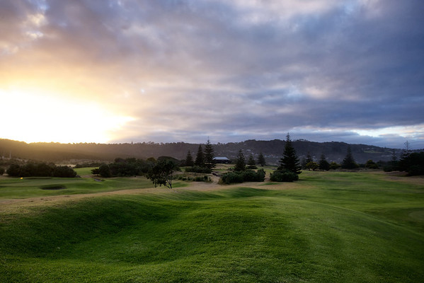 Dawn on the 10th and 11th holes, Muriwai