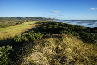 Muriwai Golf  Links and beach