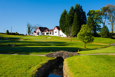 18th hole and clubhouse, Balmore Golf Club