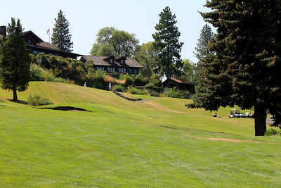 #01 Tee Box and Club House, Indian Canyon GC,  Spokane, Wa