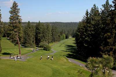 #10 Tee and #18 Green, Indian Canyon GC,  Spokane, Wa