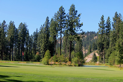 #16 Green, The Creek at Qualchan GC,  Spokane, Wa One of my favorite holes in Spokane