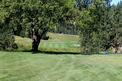 #18 Fairway and Green, The Creek at Qualchan GC,  Spokane, Wa
