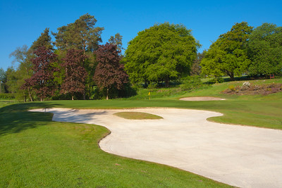 White sand bunkers