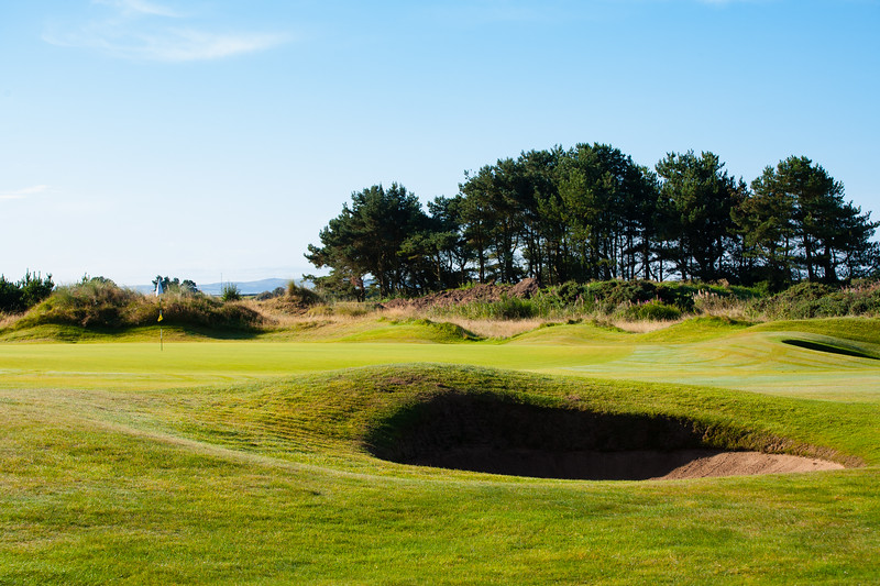 Bunker on the 4th hole  at Glasgow Gailes Golf Club