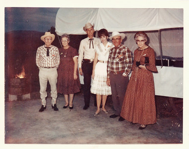 This was one of the club parties - the Western BBQ.  The couple in the middle is Carl Tidgren and his wife Jan.  They owned The Flame resort for many years.