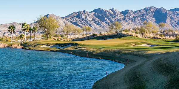 The 17th hole at Coyote Springs