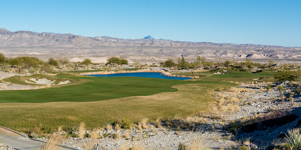 The 15th hole at Coyote Springs Golf Club