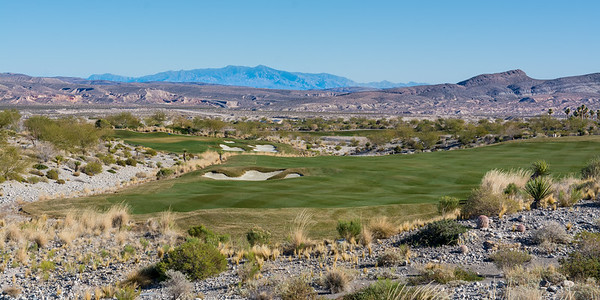 The 7th hole at Coyote Springs