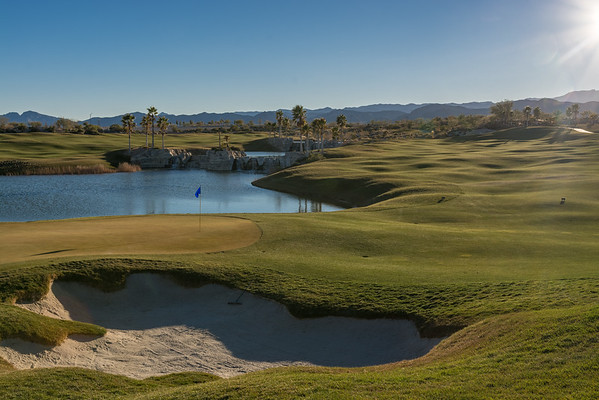 The 18th hole at Coyote Springs