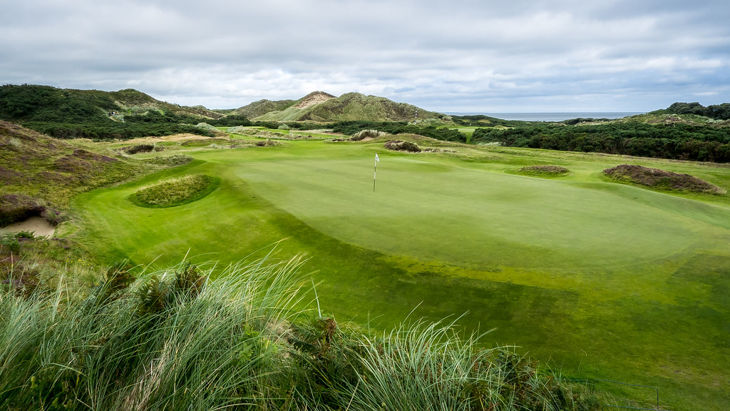 A green at Royal County Down Golf Club