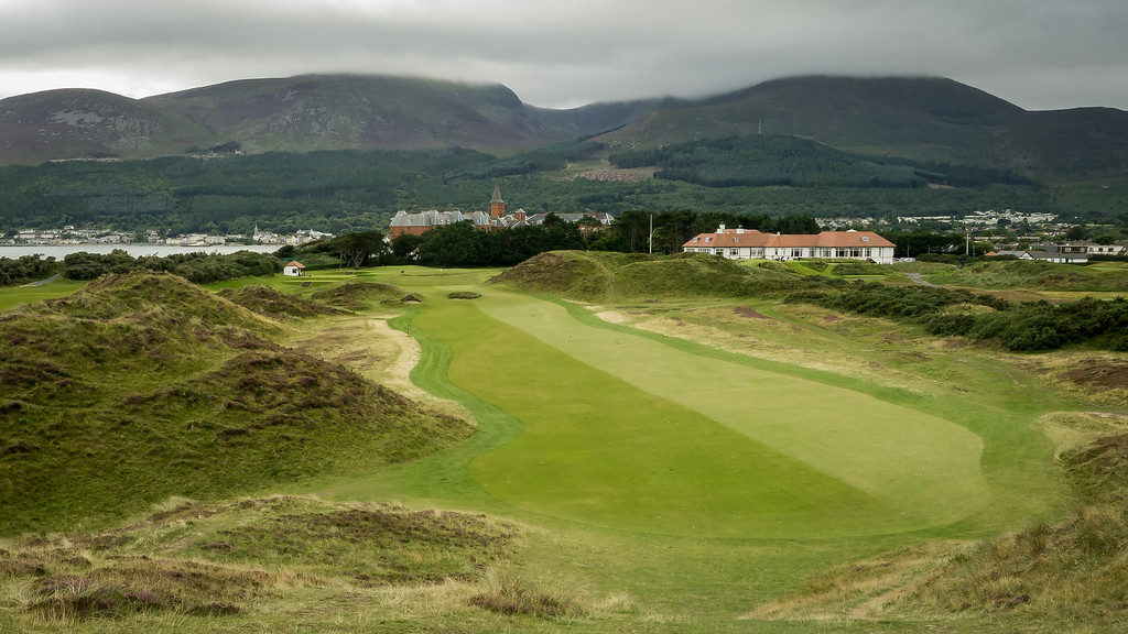 The infamous 9th fairway at Royal County Down Golf Club