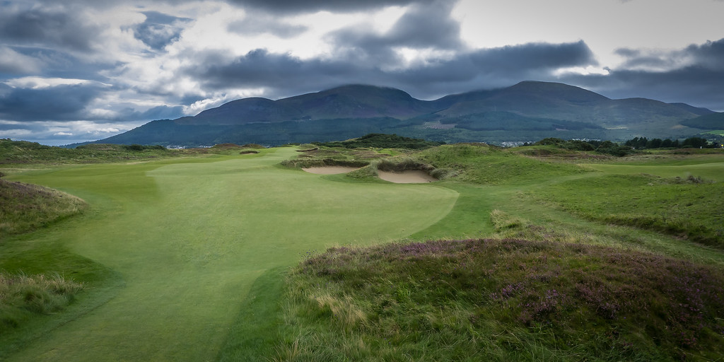 A fairway at Royal County Down Golf Club