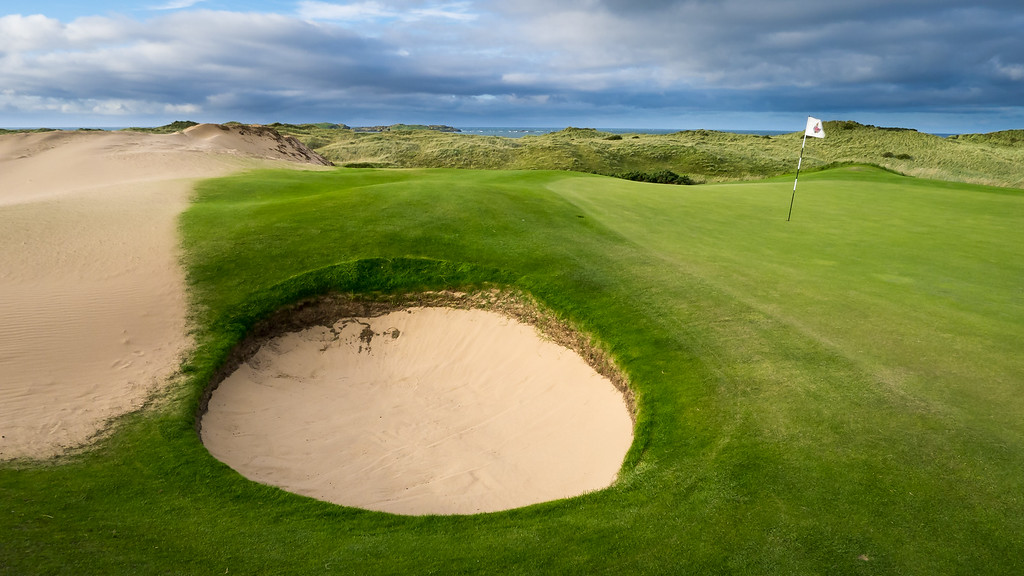 The 13th green at Royal Portrush Golf Club